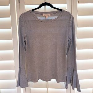 [Philosophy] Bell Sleeve Striped Top